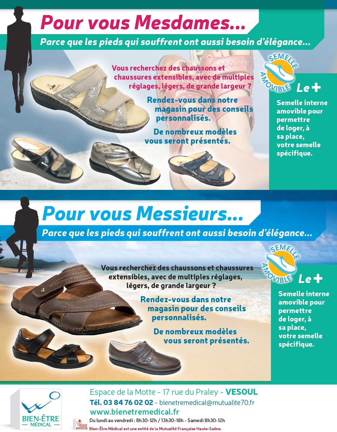 Chaussons et chaussures extensibles
